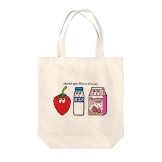いちごミルク/モンスター Tote bags