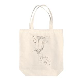 うま Tote bags