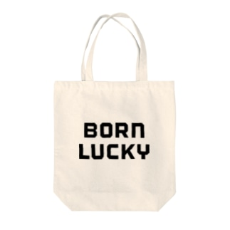 BORN LUCKY Tote bags