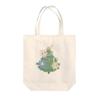 クリスマスふれんず Tote bags