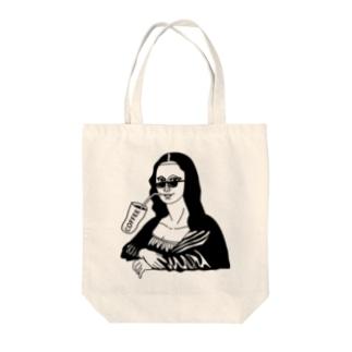 Drink & Mona Lisa 「COFFEE」 トートバッグ