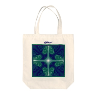 Green shadow Tote bags