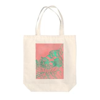 カサゴ 切り絵 Tote bags
