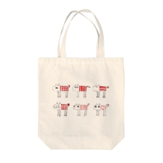 moody cats Tote bags