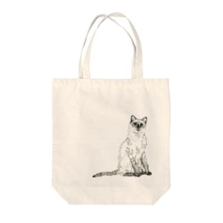 シャムネコ Tote bags