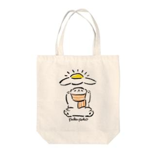 ベーコンエッグしろくまちゃん 目玉焼きを讃えよ!! Tote bags