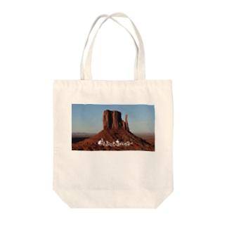 絶景写真と筆文字言葉入りグッズ Tote bags
