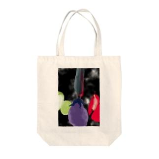 茄子達 Tote bags