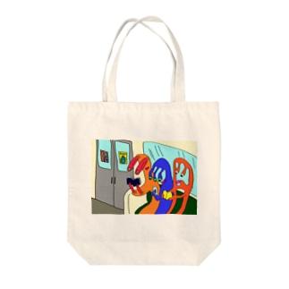 電車 Tote bags