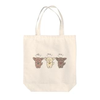 ちわとりお Tote bags