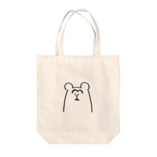 はえてるくるクマ Tote bags