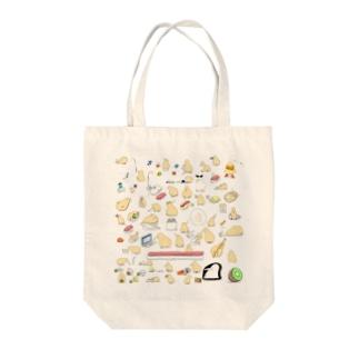 キーウィいっぱい Tote bags