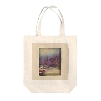 川の透明と光のまる Tote bags