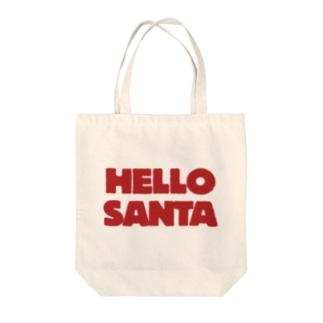 HELLO SANTA Tote bags