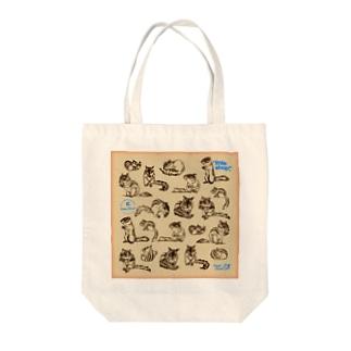 シマリスがいっぱい Tote bags