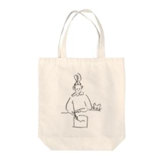 書き物と猫 Tote bags