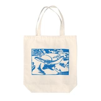 マダラトビエイ 切り絵 Tote bags
