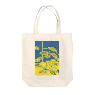 ヨスジフエダイ 切り絵 Tote bags