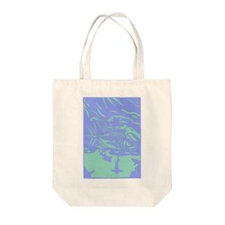 ロウニンアジ 切り絵 Tote bags