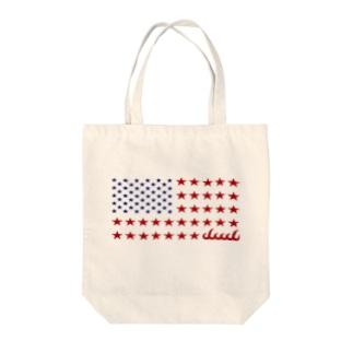 dacci 星条旗オール星(カラー) Tote bags