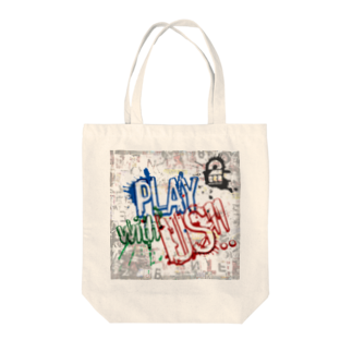 2BRO. 公式グッズストアのウォールアート風PLAY WITH US トートバッグ Tote bags