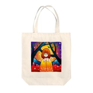 極彩色の街 Tote bags