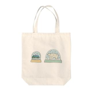 スノードーム Tote bags