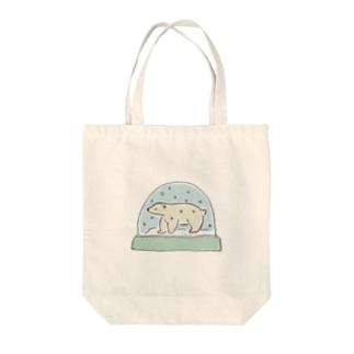 シロクマスノードーム Tote bags