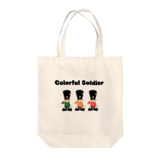 兵隊さんのトートバック Tote bags