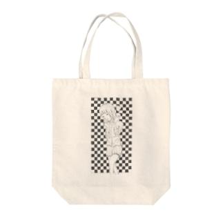 ハートの女の子 Tote bags