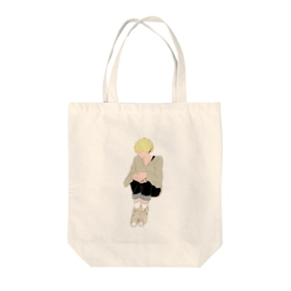金髪マッシュくん Tote bags