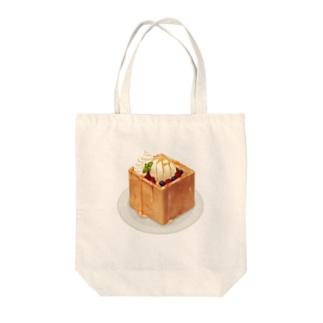トースト Tote bags