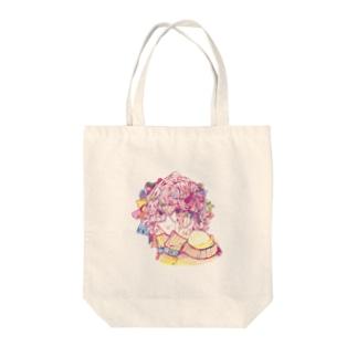 モジャリボン Tote bags
