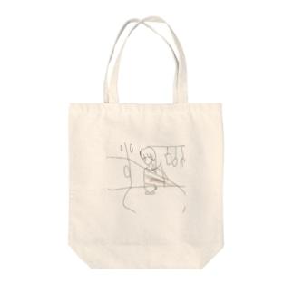 ゆがみ Tote bags