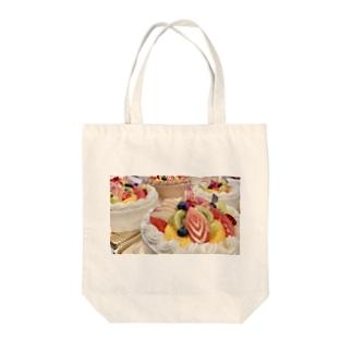 フルーツのケーキ Tote bags