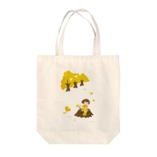 いちょうちゃんと秋 Tote bags