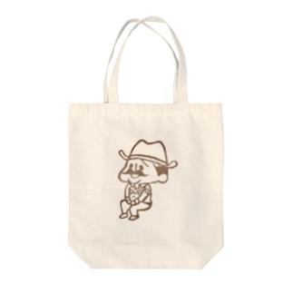 待機園長シリーズ (カウボーイ) Tote bags