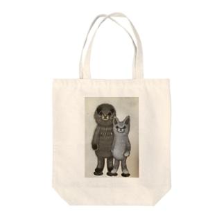 Rukko&Shinba02 Tote bags