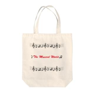 おんぷの世界-The Musical World- Tote bags