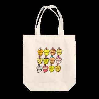 ぽぽぽのお店の12匹集合トートバッグ