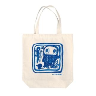 四角い旅 Tote bags