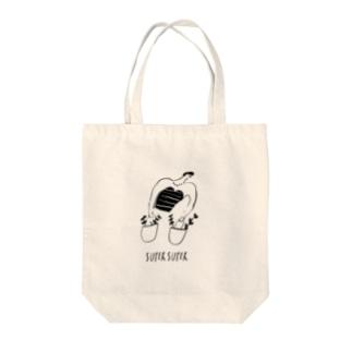 スーパーガール Tote bags