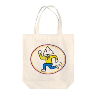 走る三角【丸・三角・四角】 Tote bags