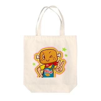 ピース!【ニクニク星人・ニック】 Tote bags