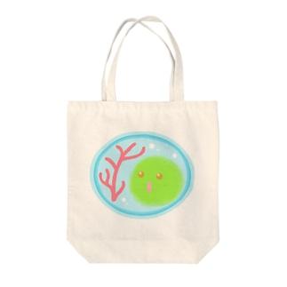 赤サンゴ【マリモの妖精・まりポックル】 Tote bags