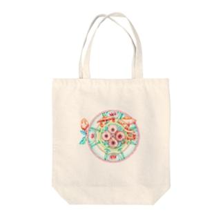 曼荼羅ー畑 Tote bags