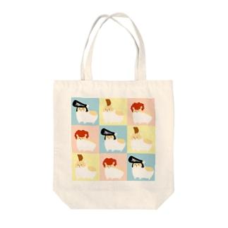 ヤンハムタイル Tote bags