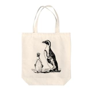 ペンギン <アンティーク・プリント> Tote bags