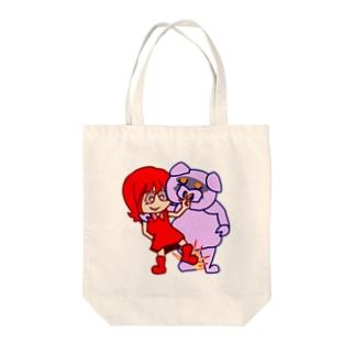 ザ・ワル子さん足踏みブーダラビー Tote bags