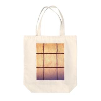 純和風格子柄 淡い🌸 Ongakus photo goods Tote bags